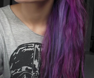 girl, purple hair, and beautiful image