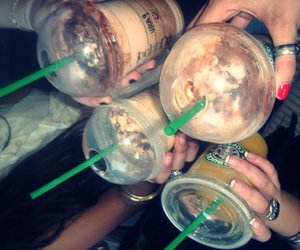 drink, starbucks, and friends image