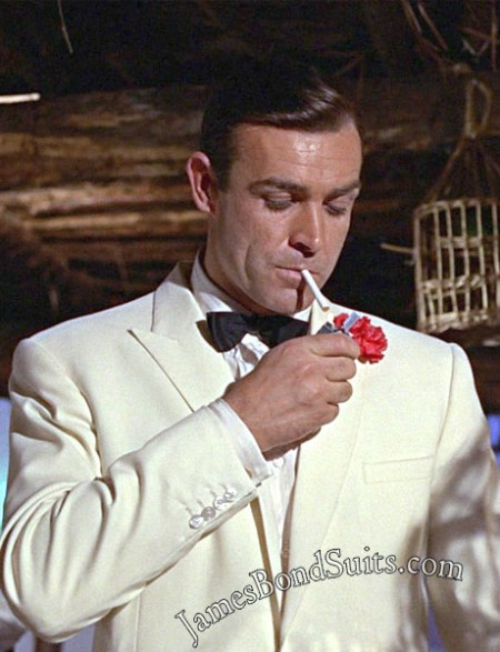 Sean Connery Whitethis Stylish White Dinner Suit Has Taken From Third 007 Movie Goldfinger In Which Sean Connery While Playing Secret Agent Role Spotted Wearing This Amazing Tuxedo Tuxedo Goldfinger White