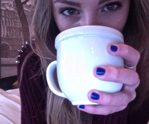 girl, pale, and tea image