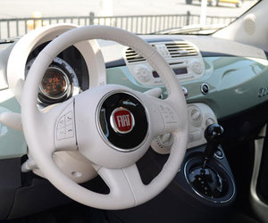 car, fiat 500, and mint image