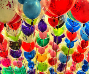 balloons, colorful, and colors image