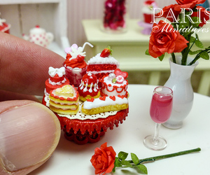 cake, food, and miniature image