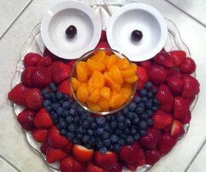 food, fruit, and elmo image