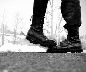 boots, couple, and metalheads image