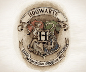 hogwarts, harry potter, and slytherin image