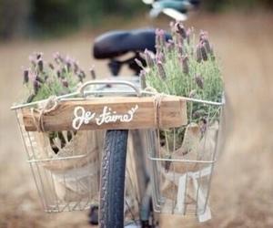 bike, flowers, and je t'aime image