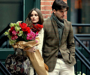 olivia palermo, couple, and flowers image