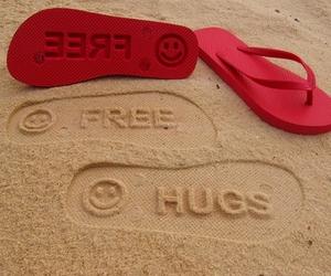 hug, free, and summer image