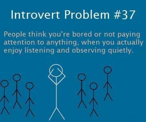introvert, problem, and quote image
