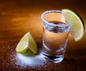 alcohol, lemon, and tequila image