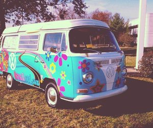car, hippie, and good trip image