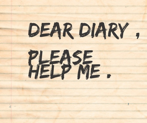 alone, diary, and help image