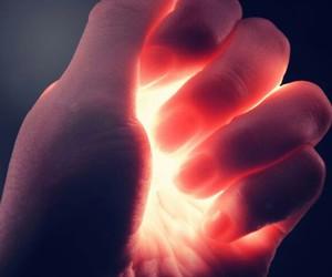 light, hand, and magic image