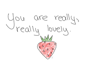 strawberry, lovely, and text image