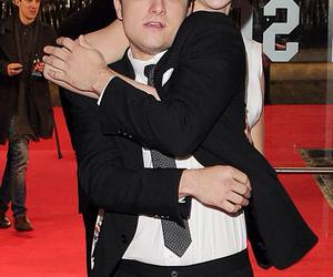 Jennifer Lawrence, josh hutcherson, and catching fire image