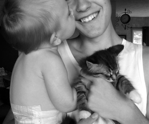 baby, boy, and cat image