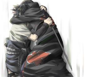 sasuke uchiha, naruto shippuden, and itachi uchiha image