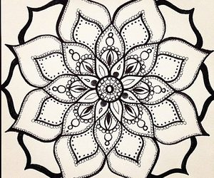 art, henna, and doodle image