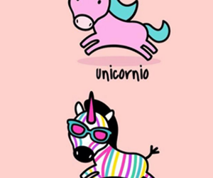 unicorn, zebra, and colors image