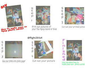 diy, photocards, and kpop image