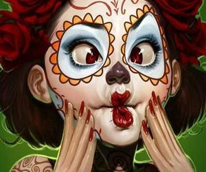 art and sugar skull image