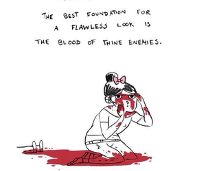 blood, funny, and enemy image
