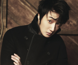 black jacket, the celebrity, and jung il woo image