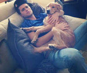 boy, dog, and spencer boldman image