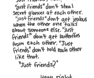 just friends, love, and quote image