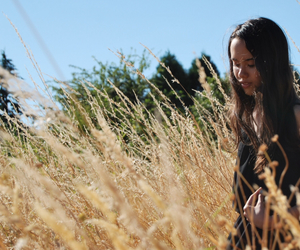 field, girl, and lovely image