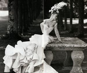 black and white, folds, and vogue image