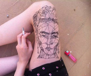 art, hipster, and tatt image
