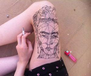 art, cigarette, and frida kahlo image
