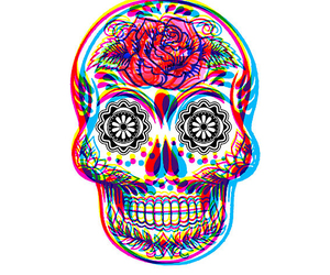 3d, indie, and skull image