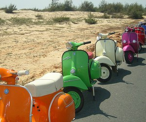 colours, photography, and scooter image