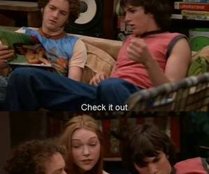 ashton kutcher, donna, and hyde image