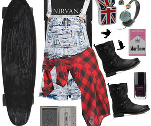 nirvana, outfit, and Polyvore image