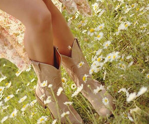 boots, daisy, and country image