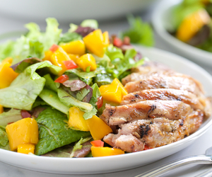 Chicken, mango, and poultry image