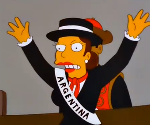 argentina and the simpsons image
