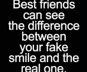smile, best friends, and fake image
