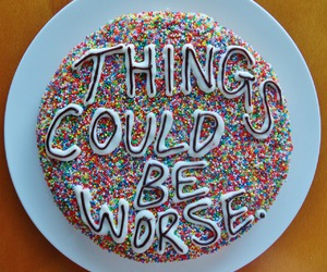 cake, quotes, and food image