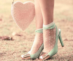 shoes, heart, and pink image