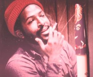 black, cigarette, and Marvin image