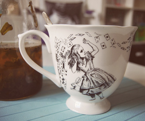 alice, cup, and tea image