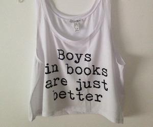 book, boy, and shirt image