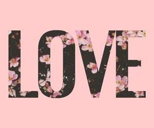 love, flowers, and pink image