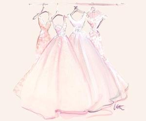 dress, art, and pink image