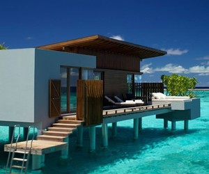 ocean, house, and beach image